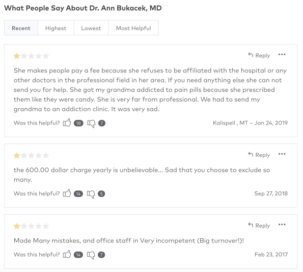 annie_healthgrade_reviews